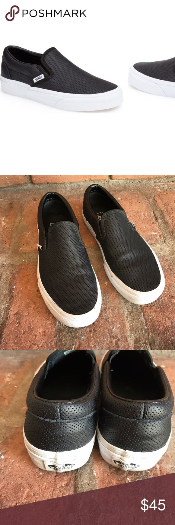 Vans original black slip on sneakers ❗️ In effect condition super clean inside and out super cute sneakers! Vans Shoes Sneakers