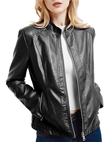 Veste cuir courte pour femme