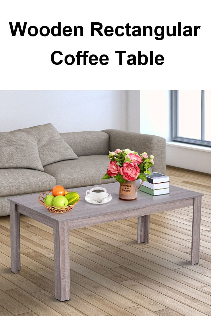 Wooden Rectangular Living Room Coffee Table Side End Desk Coffee Table Living Room Coffee Table Coffee Table Wood [ 1102 x 735 Pixel ]