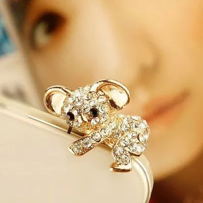 Find More Dust Plug Information about New Top Fasion 2015 Crystal Bear Earphone Jack Plug for Mobile Phone   1 Pc  Free Shipping,High Quality earphone pouch,China plug and play wireless ip camera Suppliers, Cheap earphone mobile from Shenzhen Yip's Union Trading Store on Aliexpress.com