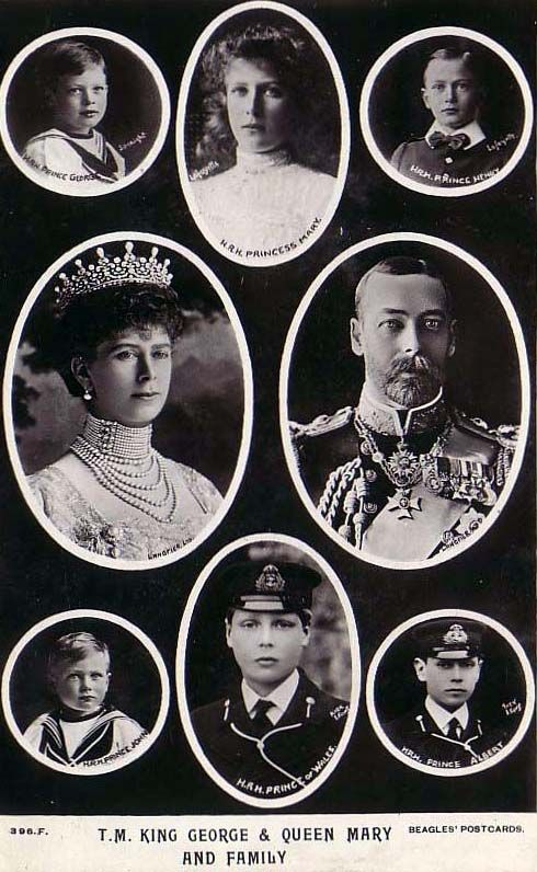 Royal Family, King George V and Queen Mary and family