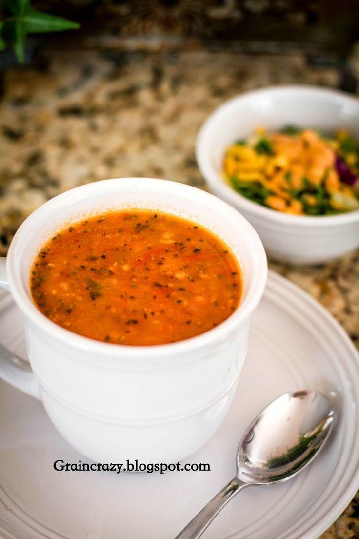 Grain Crazy: Tomato Basil Zucchini Soup