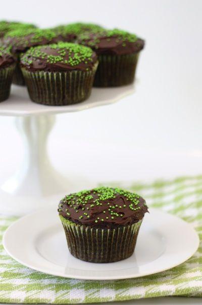 Chocolate Zucchini Cupcakes Recipe on twopeasandtheirpod.com Super moist and rich cupcakes! #zucchini #cupcakes #chocolate