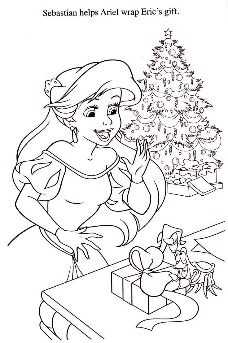 coloriage la petite sirène  Coloriage noel, Coloriage, Noël disney