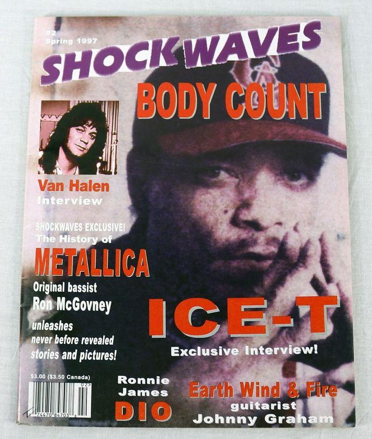 Shockwaves Music Magazine 1997 Ice T Metallica Van Halen Earth Wind Fire OOP New