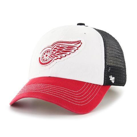 NHL 47 Brand Detroit Red Wings Privateer Closer Mesh Hat