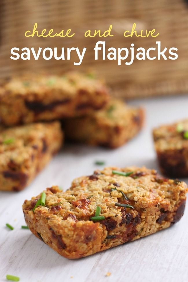 Cheese and chive savoury flapjacks - these are SO easy to make.