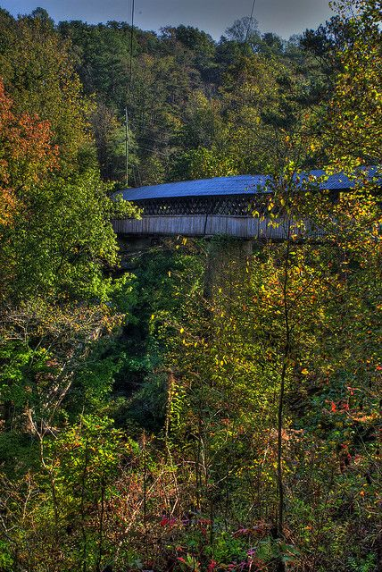 Horton Bridge  one of the highest in the southeast  Hortons Mill  Alabama   Built in 1934