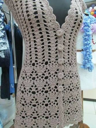 chalecos en crochet ile ilgili görsel sonucu