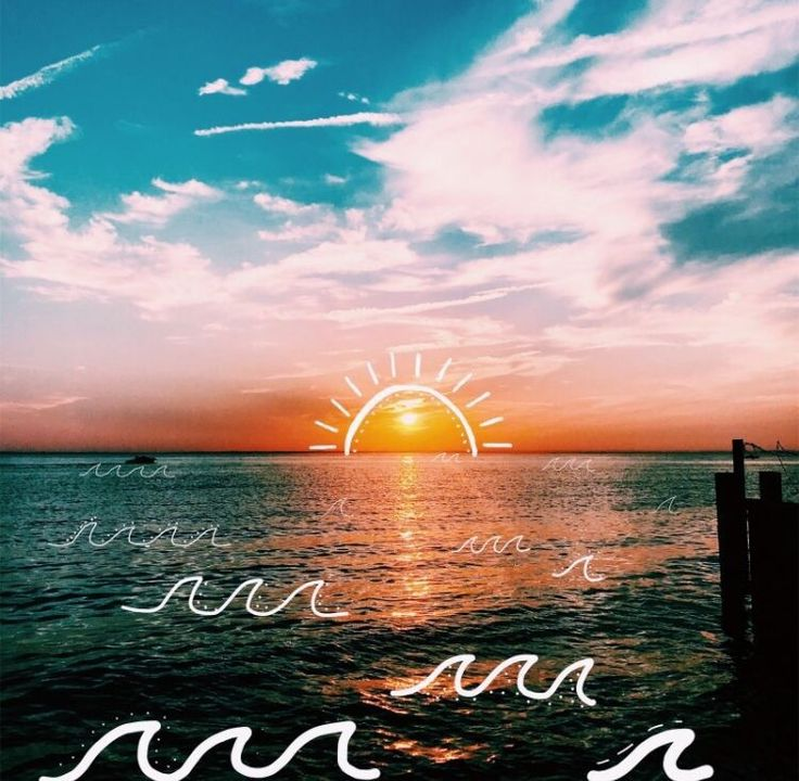 Cute Trendy Wallpapers Qotes Tumblr Sunset On A Beach By Vsco🤪🦋🌈⚡️ Vsco Pictures