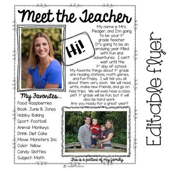 """BACK TO SCHOOL: Good for  the """"Meet the Teacher"""" and """"Student Information"""" sheet."""