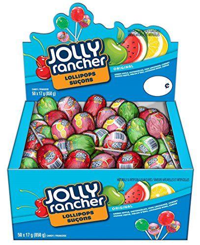 #4: Jolly Rancher Assorted Lollipops 850g Box (50 x 17g lollipops)