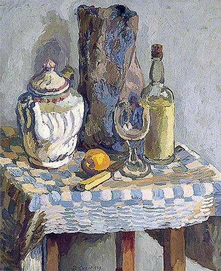 ✽   duncan grant  -  'still life with a tea pot' -   1929  -  oil on canvas