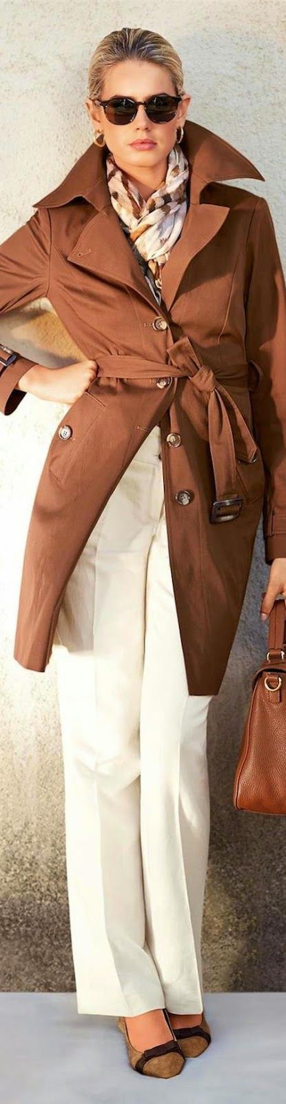 ☆Class Never Goes Out Of Style.  *Madeleine Trench in Cognac