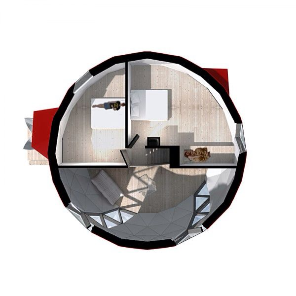 Tiny Round House inside | Camper and Tiny House ect | Pinterest: pinterest.com/pin/541769030145798778