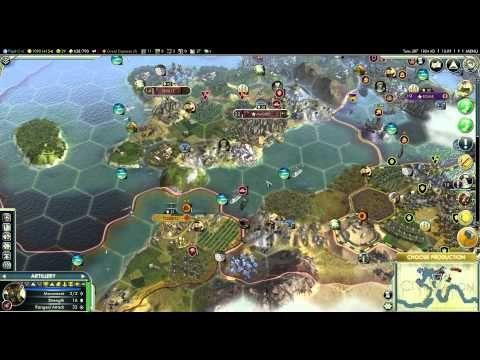 Let's Play Civilization 5 (Huge Earth Gameplay) - Part 40 - Toledo Assault
