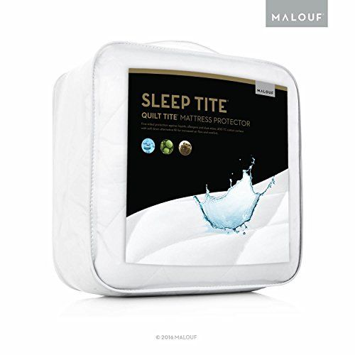 SLEEP TITE QUILT TITE 100% Cotton Waterproof Mattress Pad - Soft, Quilted Mattress Protector - Twin XL