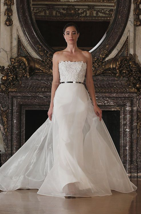 Simple elegant wedding dress, Romona Keveza Luxe Bridal Collection, Spring 2016