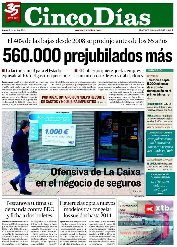 CINCO DÍAS: Diario de Economía y Negocios.