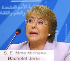 Michelle Bachelet, former president of Chile and the executive director and under-secretary-general of U.N. Women