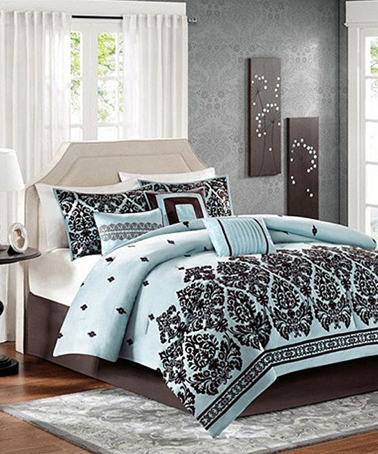 Blue & Brown Comforter Set; that would go perfectly in my room!
