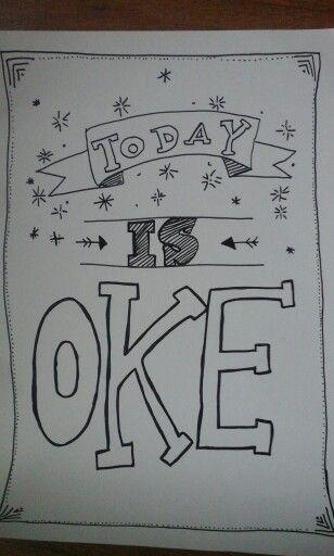 Juist today is oke! Lekker zaterdag even niets moet alles mag! Heerlijk