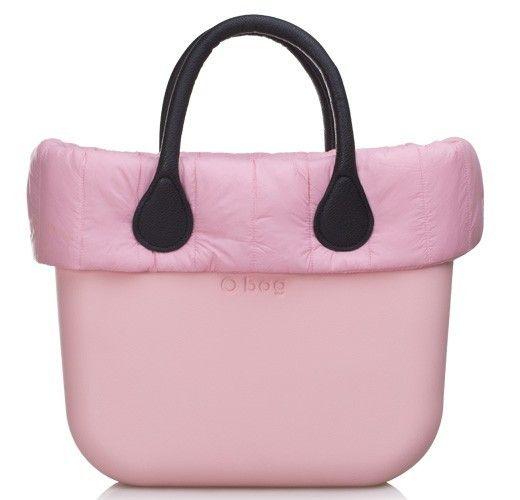 Fullspot O bag in piumino rosa