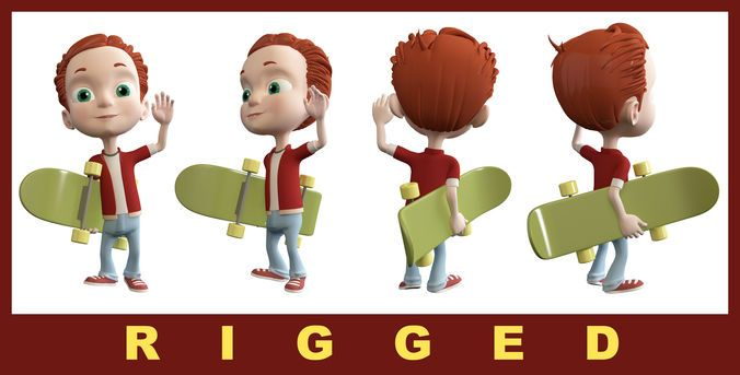Alex Cartoon Boy | 3D model