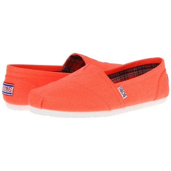 skechers ballet flats orange