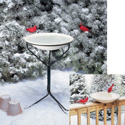 Allied Precision 20 in. Heated Bird Bath with Metal Stand - ALLIEDPR970