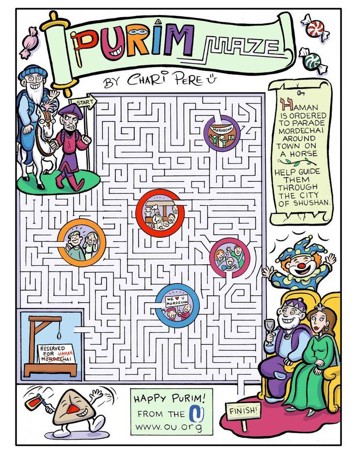 for kids-purim maze