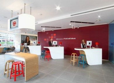 Bank design experts I-AM created 'the branch of the future' for UniCredit, combining a number of innovative solutions, that transform the customer journey