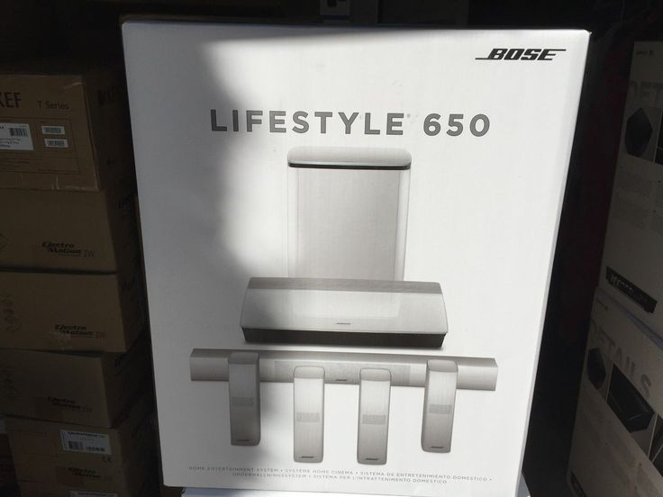 Home Theater Systems: Bose Lifestyle 650 Home Cinema System (White Color) Brand New -> BUY IT NOW ONLY: $3799 on eBay!