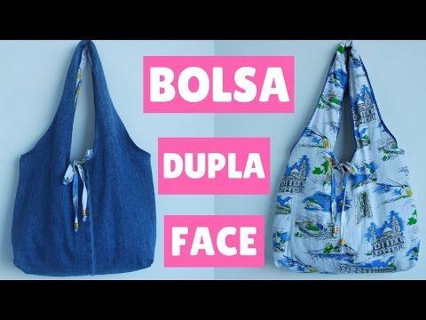 DIY BOLSA DUPLA FACE FEITA COM PERNAS DE JEANS - SUELLEN REDESIGN - YouTube