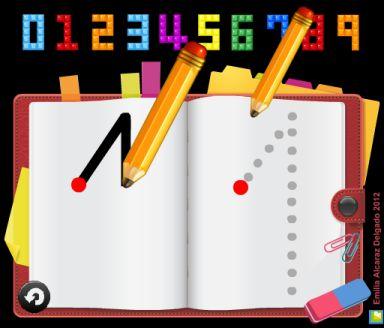 Activitat de l'Emilia Alcaraz Delgado adreçada a l'alumnat de l'últim curs d'Educació Infantil. Els alumnes hauran d'observar la direccionalitat de la grafia dels nombres i més tard l'hauran de resseguir. Podran realitzar aquestes activitats tantes vegades com vulguin. Els més petits poden fer servir el joc amb les nombres que coneixen. Aquesta activitat és ideal per fer-la servir amb la PDI.