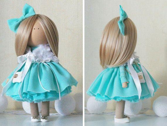 Interior doll Fabric doll Handmade doll Tilda by AnnKirillartPlace