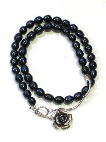 Niepowtarzalny naszyjnik z niebieskich pereł