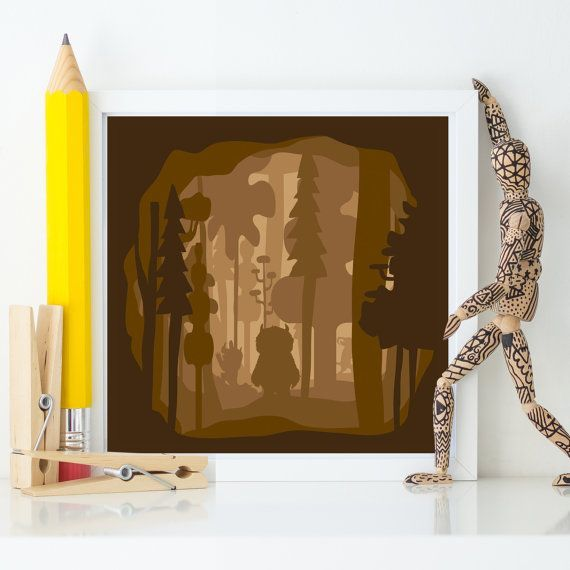 NURSERY PRINT - WHERE THE WILD THINGS      This contemporary, monochromatic nursery print art piece has been design with the best quality image for your spaces at an affordable price.