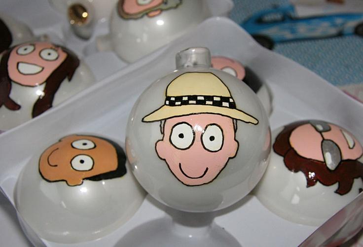 Kerstballen van Annie Warhoofd  www.anniewarhoofd.nl
