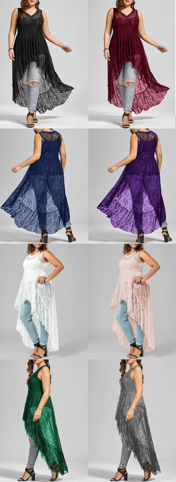$10.82 High Low See Through Lace Plus Size Top  plus size,plus size fashion for women,plus size fashion,plus size outfit,plus size tops, plus size top for women,plus size tops summer,plus size blouses,plus size blouses for women,plus size blouses for women summer,plus size t shirts,plus size t shirts tee,plus size t shirts outfits,plus size t shirts for women,t shirt,tee,tees,fashion t shirt,blouses,blouses for women,t shirt,blouse