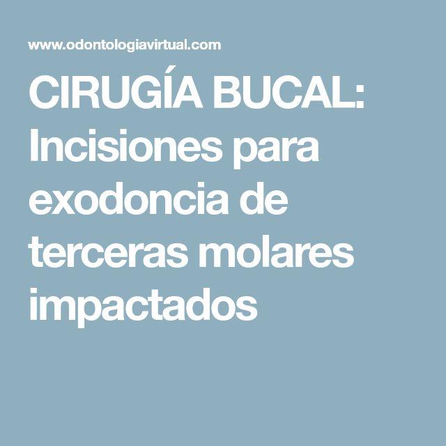 CIRUGÍA BUCAL: Incisiones para exodoncia de terceras molares impactados