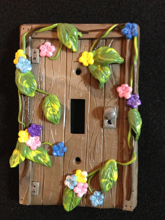 Polymer Clay Light Switch Plate Cover Faerie by CherokeeTreasures, $10.00