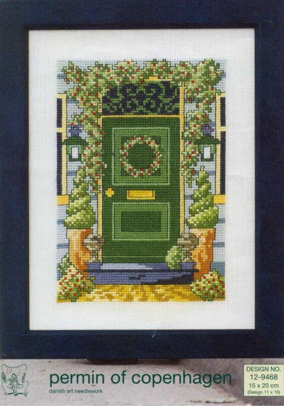 Schema punto croce Porta Verde 01