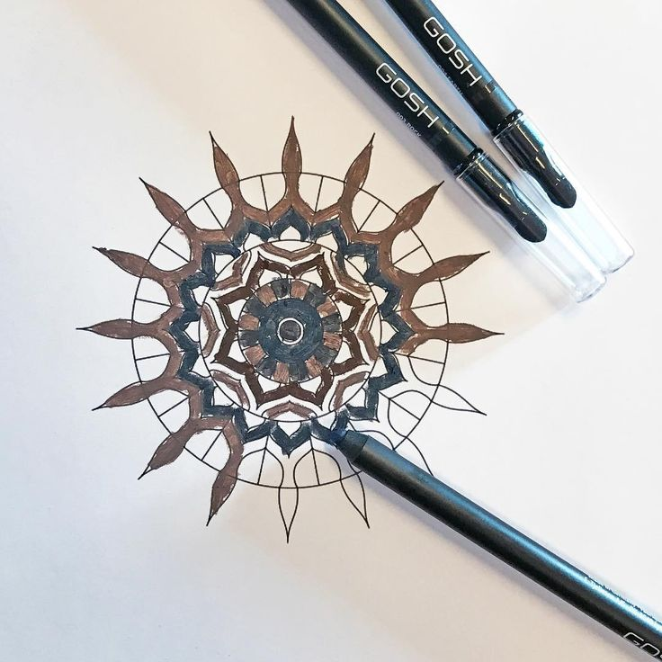 Feel like being creative? Colouring a Mandala with our new INFINITY EYE LINERS is pure meditation #GOSHCOPENHAGEN #BEAUTIFULYOU #MAKEYOURIMPRESSION #SS17 #NEW #INFINITYEYELINER