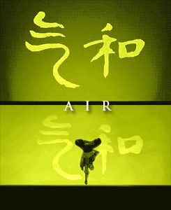 Elements intro in Avatar: The Last Airbender compared to The Legend of Korra - Imgur Aang
