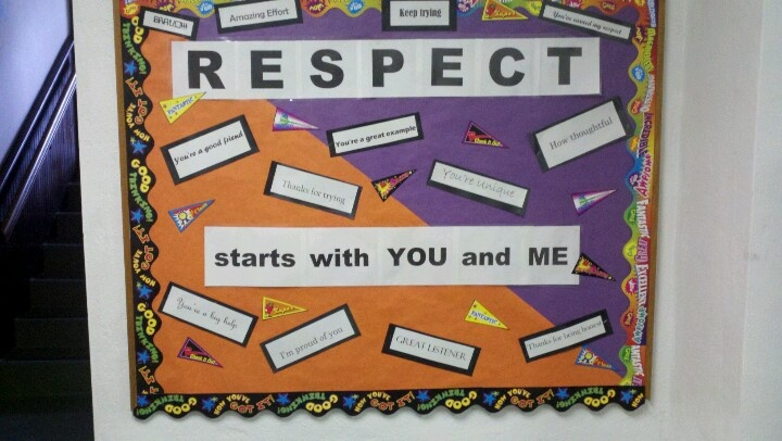 Our RESPECT bulletin board by KC2013