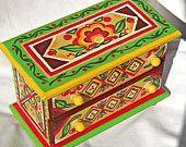Caja de joyería de arte popular ruso
