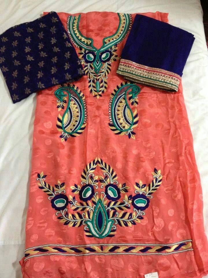 Punjabi embroidery suit