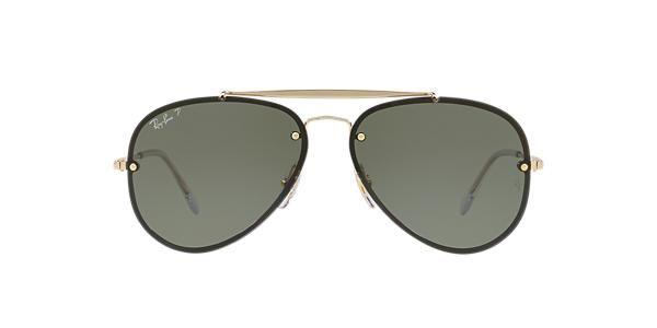 Ray-Ban RB3584N 58 Green & Gold Polarised Sunglasses | Sunglass Hut Australia