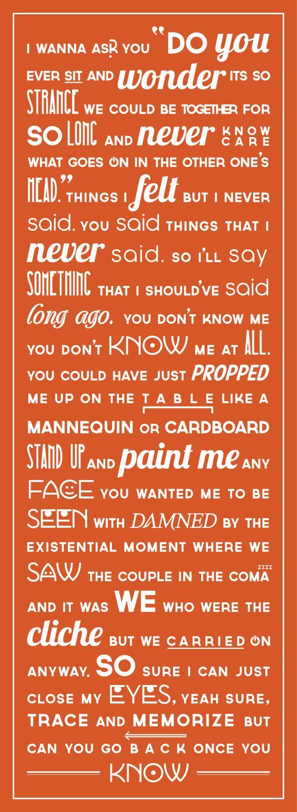 Ben Folds & Regina Spektor ~ You Don't Know Me